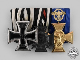 Germany, Third Reich. A Medal Bar with Three Decorations