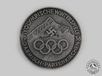 Germany, Third Reich. A 1936 Garmisch-Partenkirchen Winter Olympics Games Table Medal