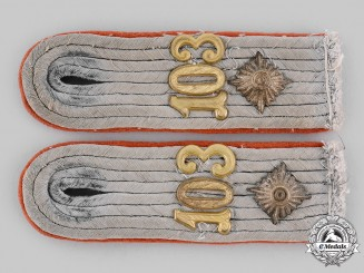 Germany, Heer. A Set of Flak/Artillery Oberleutnant Shoulder Boards