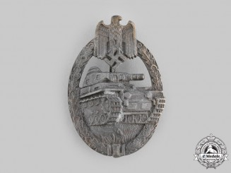 Germany, Wehrmacht. A Panzer Assault Badge, Bronze Grade, by Karl Wurster