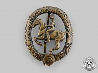 Germany, Third Reich. An Equestrian Badge, III Class in Bronze, by L. Christian Lauer