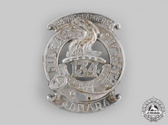 "Canada, CEF. A 134th Infantry Battalion ""48th Highlanders"" Officer's Glengarry Badge, c.1916"