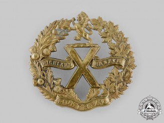 Canada, Dominion. A No. 4 Highland Cadet Battalion of Montreal Cap Badge c.1900