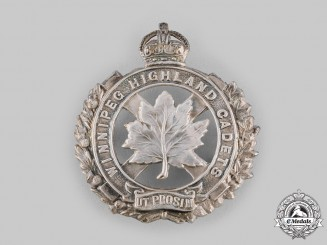 Canada, Dominion. A No. 407 Winnipeg Highland Cadet Battalion Cap Badge c.1915