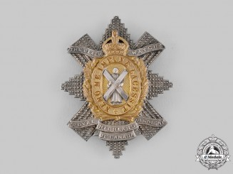 "Canada, Dominion. A King's Crown Royal Highland Regiment of Canada ""The Black Watch"" Officer's Cap Badge"