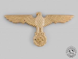 Germany, Kriegsmarine. A Pith Helmet Eagle Insignia