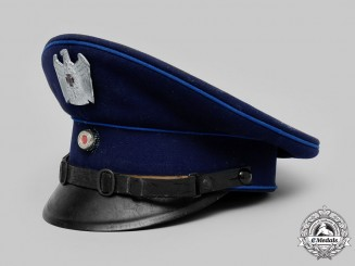 Germany, NSKOV. A National Socialist War Victim's Care Enlisted Personnel Visor Cap, by K.M. Stahl