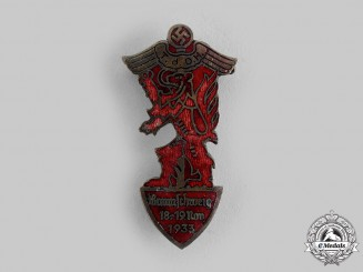 Germany, Third Reich. A 1933 Braunschweig Day of German Handicrafts Badge, by Carl Poellath