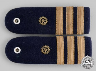 Germany, Federal Republic. A Set of Navy Engineer Korvettenkapitän Shoulder Boards