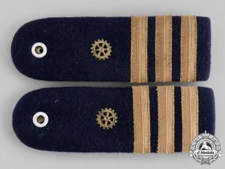 Germany, Federal Republic. A Set of Navy Engineer Korvettenkapitän Shoulder Boards