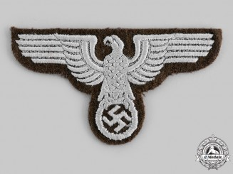Germany, RMBO. A Reich Ministry for the Occupied Territories (RMBO) EM/NCO's Breast Eagle