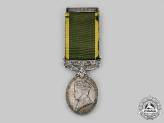 United Kingdom. An Efficiency Medal, Ceylon Light Infantry