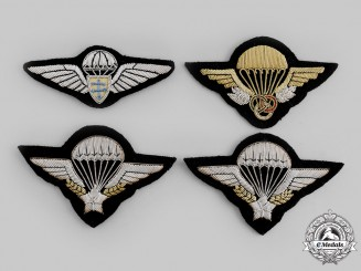 France, Republic. A Lot of Four Paratrooper Badges