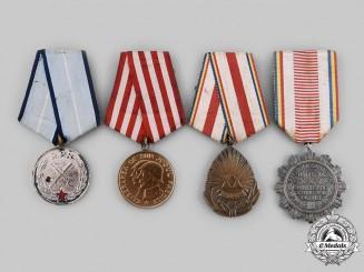 Romania, People's Republic, Socialist Republic. Four Medals & Awards