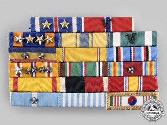 United States. A Second War and Korean War Air Force Veteran's Ribbon Bar