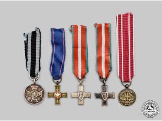 Poland, Republic, People's Republic. A Lot of Five Miniature Awards