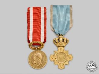 Romania, Kingdom. Two Service Awards