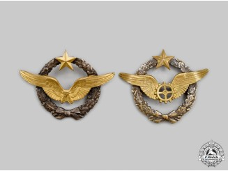 France, III Republic. Two Army of the Air Qualification Beret Badges