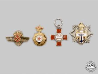 Spain, Kingdom, Francoist Era. A Lot of Four Miniature Awards