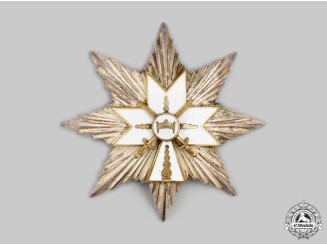 Croatia, Independent State. An Order of the Crown of King Zvonimir, I Class with Swords Star, c.1942