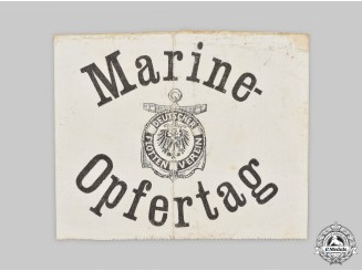 Germany, Imperial. A Naval War Victims Donation Campaign Armband
