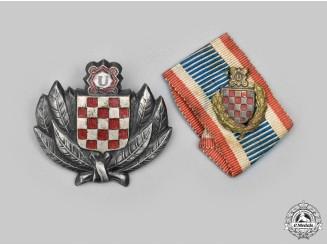 Croatia, Independent State. Two Ustasha Items