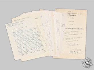 Austria, Imperial. A Military Merit Cross Document & Official Award Requests to Captain and Machine Gun Battalion Leader Voit 1914