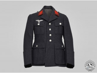 Germany, Luftwaffe. A Flak/Artillery Enlisted Personnel Service Tunic, by Brandenburger Kleiderfabrik