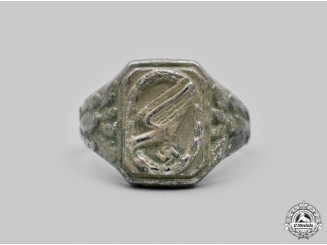 Germany, Luftwaffe. A Fallschirmjäger Commemorative Ring