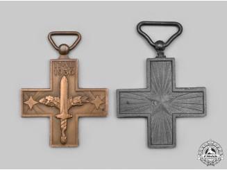 Italy, Kingdom. Two Commemorative Crosses