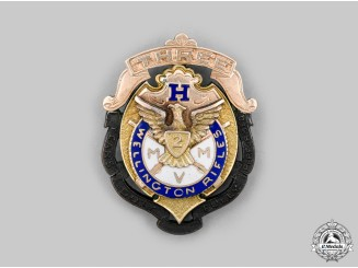 United Kingdom. A Huckster's 3rd Company, 2nd Regiment Wellington Rifles Badge, c.1910