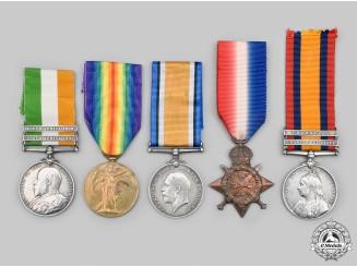 United Kingdom. A Boer War & Mons Star First War Group, The Queen's Regiment