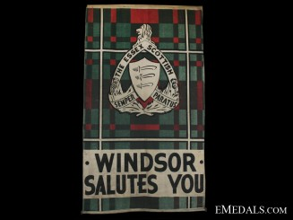 The Essex Scottish Regimental Departure Banner