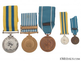 Canadian Korea Medal Group
