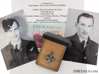 The Memorial Cross of Pilot Officer Herbert Harris