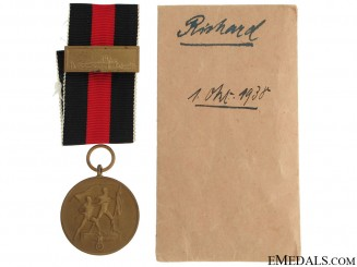 Commemorative Medal 1. October 1938