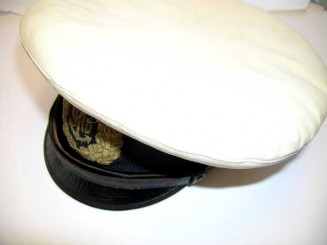 NAVY OFFICER VISOR CAP WWII
