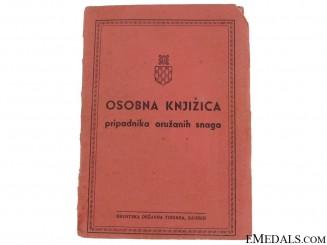 Croatian Army Wehrpass/ID