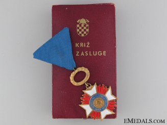 "Croatian Fireman""¢¯s Merit Award c.1940"