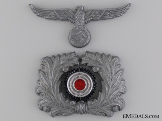 Custom Official's Visor Wreath and Cap Eagle