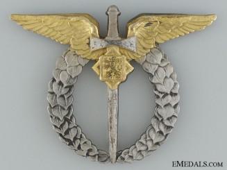 Czechoslovakian Silver 1930's Air Force Pilot's Badge