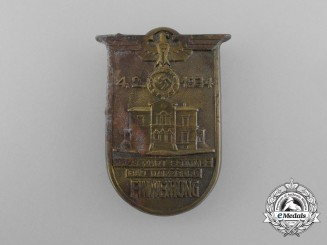 A 1934 Consecration Ceremony Badge for the Kurt Schmalz House