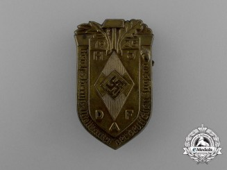 A 1935 HJ & DAF Joint Reichs Occupational Skills Competition Badge