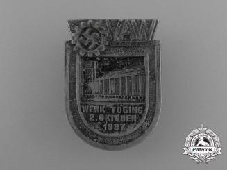 A 1937 DAF Töging Exhibition Badge by Deschler und Sohn