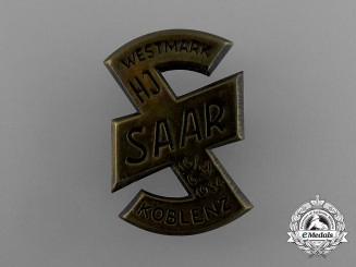 A 1934 HJ Saar Rally Badge