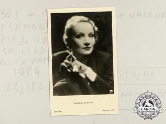 A Marlene Dietrich Studio Promotion Postcard