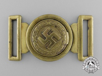 An Unattributed German Second War Belt Buckle by Overhoff & Cie