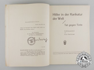 A Controversial 1935 Book by Ernst Hanfstaengl Refuting NSDAP Sentiments