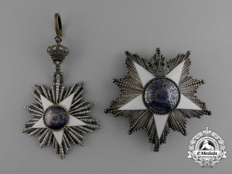 An Egyptian Order of the Nile (Nishan-al-Nil) Grand Cordon Set by Lattes of Cairo