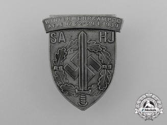 Germany. A 1939 SA/HJ Aflenz Winter Sports Competition Badge